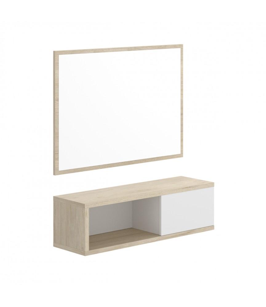 Mesa de centro elevable para sal n color blanco brillante for Mesa salon roble
