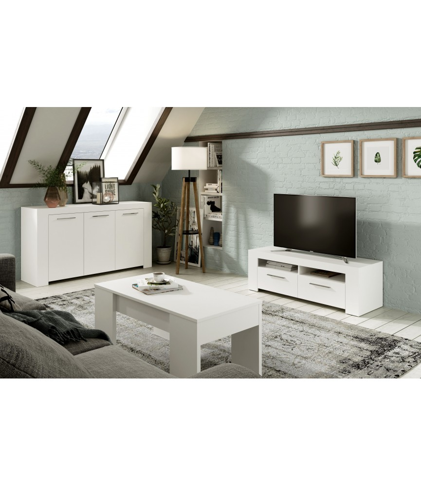 Mueble recibidor color negro blanco 81 x 40 x 81 50 cm - Mueble recibidor blanco ...